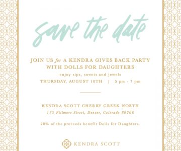Kendra Gives Back Party with Dolls for Daughters