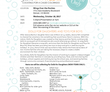 Cocktails For A Cause – Dolls for Daughters Event
